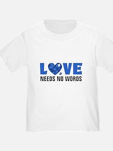 Autism LOVE No Words T-Shirt