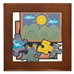 Jigsaw Puzzle Framed Tile