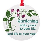 Gardening adds Years Round Ornament