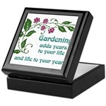 Gardening adds Years Keepsake Box