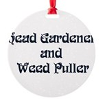 Head Gardener Round Ornament