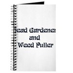 Head Gardener Journal