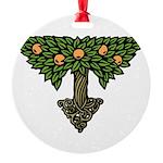 Art Nouveau Orange Tree Round Ornament