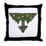 Art Nouveau Orange Tree Throw Pillow