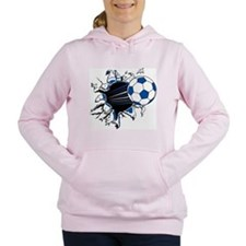 Soccer Ball Burst Women's Hooded Sweatshirt