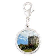Windsor Castle Silver Round Charm