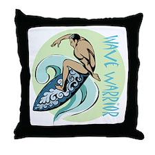 Wave Warrior Throw Pillow