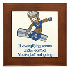 Not Going Fast Enough Framed Tile