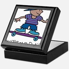 Skateboard Kid Keepsake Box