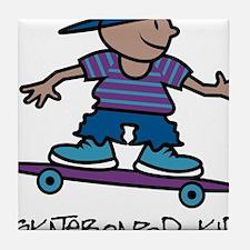 Skateboard Kid Tile Coaster
