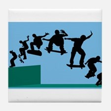 Skateboard Evolution Tile Coaster