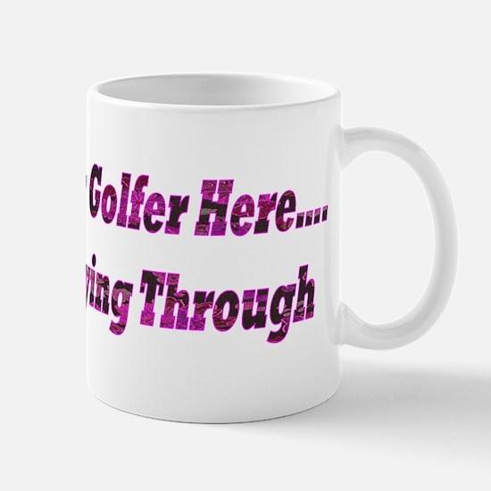 LADY GOLFER - Black Pink Floral Small Mug