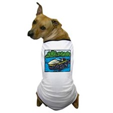 Motor Boat Dog T-Shirt