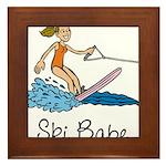 Ski Babe Framed Tile