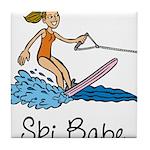 Ski Babe Tile Coaster