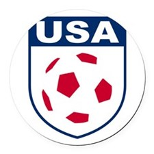 USA soccer Round Car Magnet