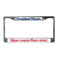 1972 Reelect the President License Plate Frame