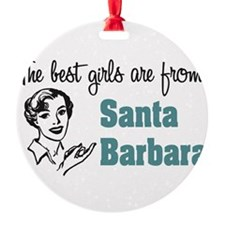 Best Girls Santa Barbara Ornament