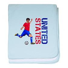 United States soccer baby blanket