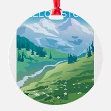 1074h5411mountainstream.png Round Ornament