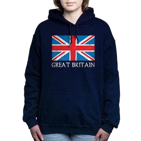 Great Britain Flag Women's Hooded Sweatshirt