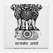 Emblem of India Tile Coaster
