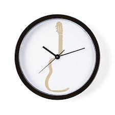Tan Acoustic Guitar Wall Clock