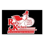 Red's Kitchen Sticker (Rectangle)