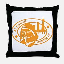 Al Kuwait Passport Stamp Throw Pillow