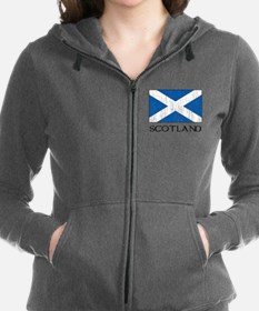 Scotland Flag Women's Zip Hoodie