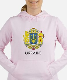 Coat of Arms of Ukraine Women's Hooded Sweatshirt