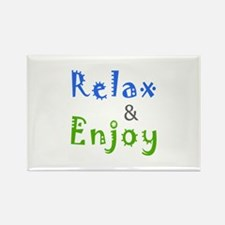 Relax and Enjoy Rectangle Magnet