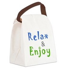 Relax and Enjoy Canvas Lunch Bag