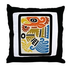 Mexican Aztec Eagle Throw Pillow