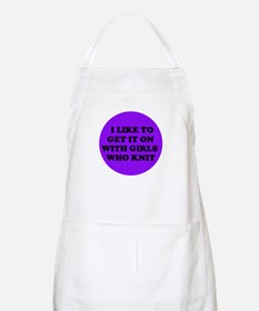 Get it On With Girls Who Knit BBQ Apron
