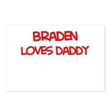 Braden Loves Daddy Postcards (Package of 8)