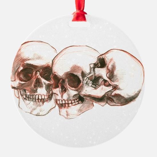 3 Skulls Ornament