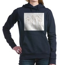 Funny Drawing art Women's Hooded Sweatshirt