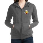 Cowboy Smiley Face Women's Zip Hoodie