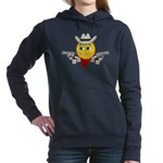 Cowboy Smiley Face Women's Hooded Sweatshirt