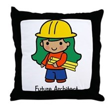 Future Architect - girl Throw Pillow