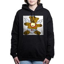 Baby Teddy Bear Angel Women's Hooded Sweatshirt