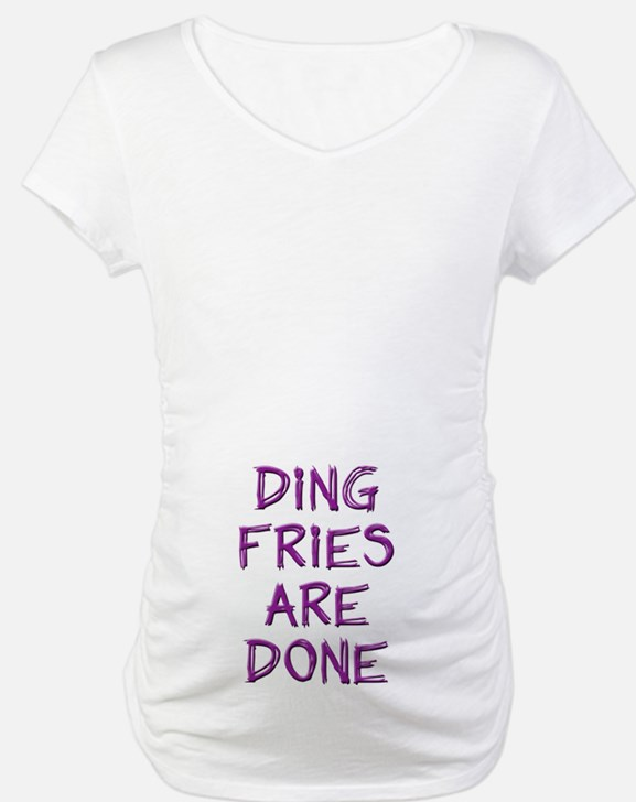 Ding Fries Are Done! Maternity White - Belly