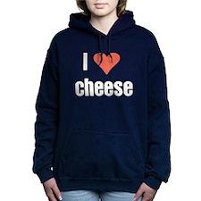 I Love cheese Women's Hooded Sweatshirt