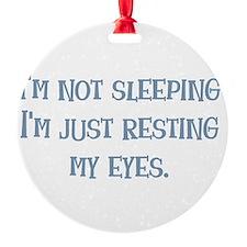 Resting My Eyes Ornament