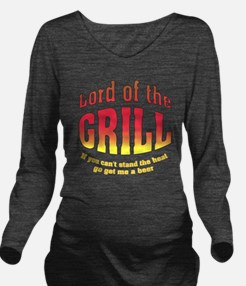 Lord of the Grill Long Sleeve Maternity T-Shirt