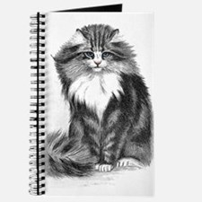 Cute Blue eyed cat Journal