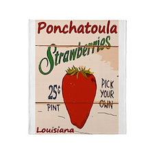 Ponchatoula Strawbe Throw Blanket