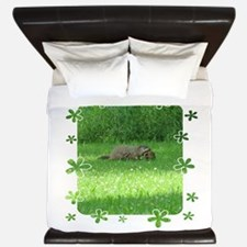 Groundhog and baby King Duvet