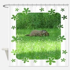 Groundhog and baby Shower Curtain